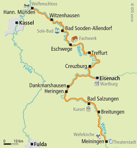 Werra Radweg Karte